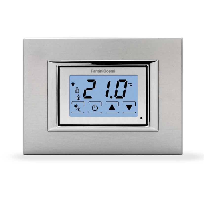 Ch123ts termostato ambiente da incasso touchscreen 3 for Istruzioni termostato bticino