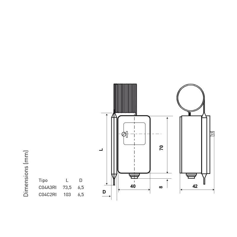 Montage /à Distance Fantini Cosmi c04/C2/clixons /à Capillaire et bulbe