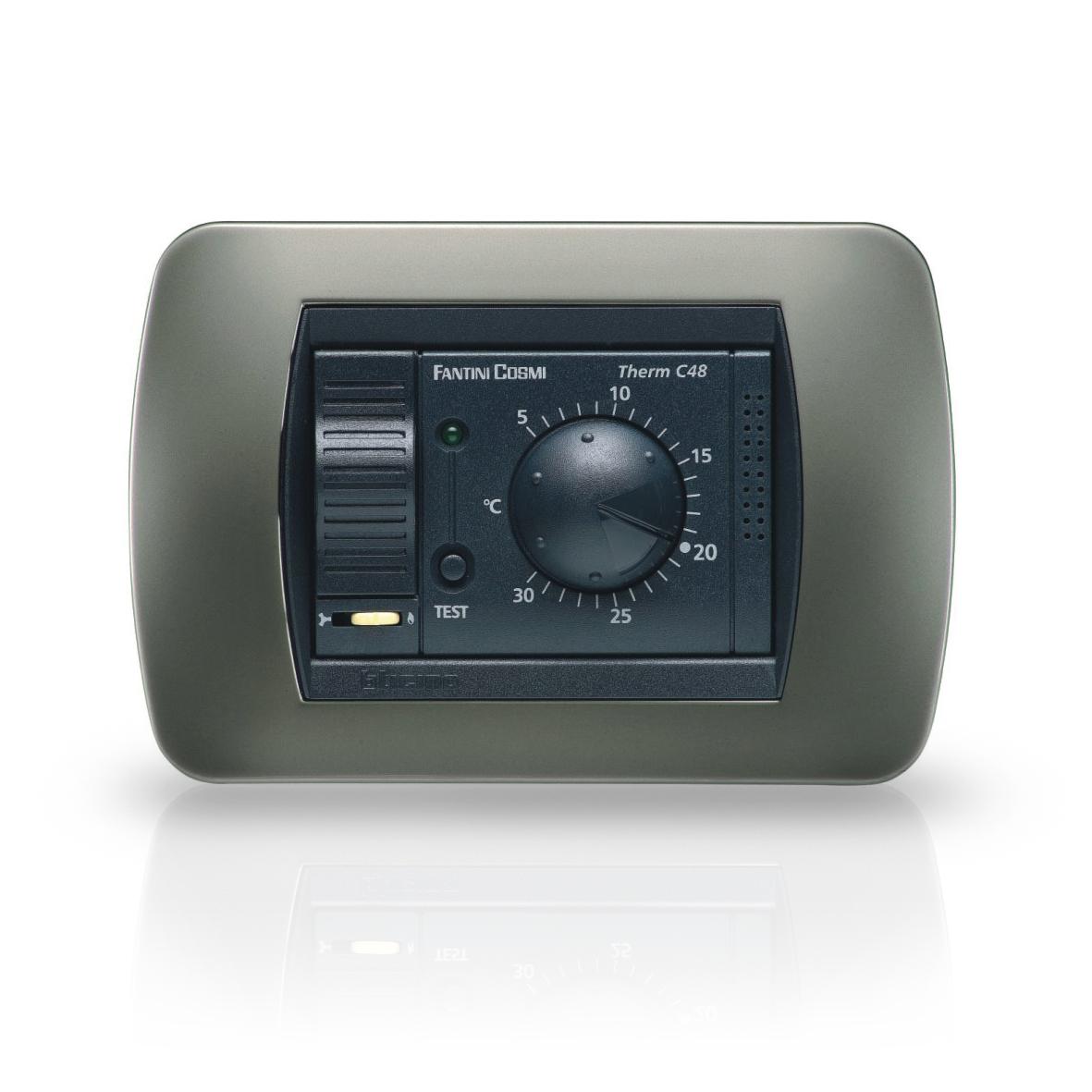 C48 Termostati Ambiente Da Incasso A Batterie A 1 Temperatura