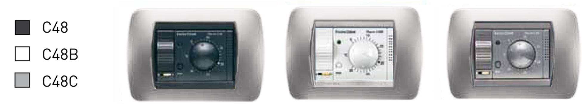C48 termostati ambiente da incasso a batterie a 1 for Termostato fantini cosmi c48 prezzo