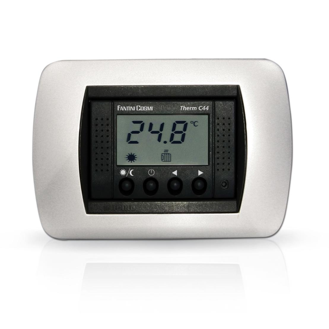 C44 Termostato Ambiente Da Incasso Alimentato A 230v 50hz A